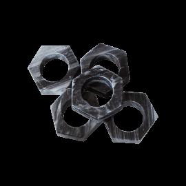 Set de 6 servilleteros de mármol