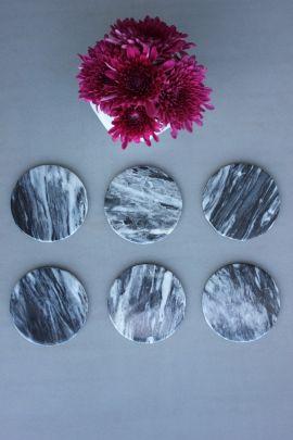 6 Porta vasos de Mármol (Circular)