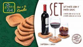 Set porta vino y porta vasos