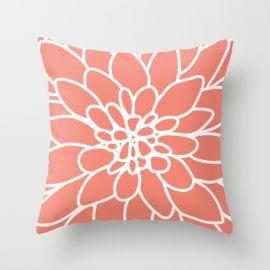Cojín Flor coral