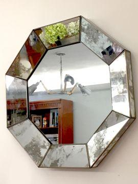 Espejo Octagonal Avejentado 60x60x5