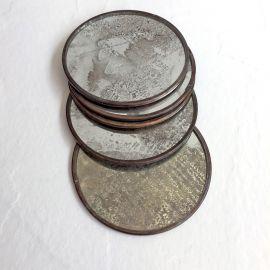 Set de Porta vasos de Espejo  Avejentado