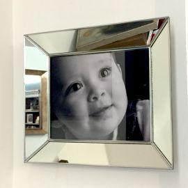 Porta Retratos de Espejo Sencillo Natural foto 8x10