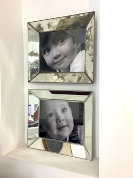 Porta Retratos de Espejo Sencillo Avejentado foto 8x10