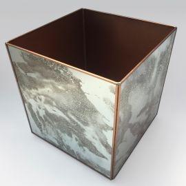 Cubo De Espejo Avejentado