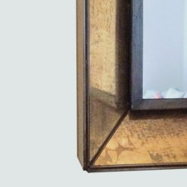 Espejo Marco Completo avejentado dorado