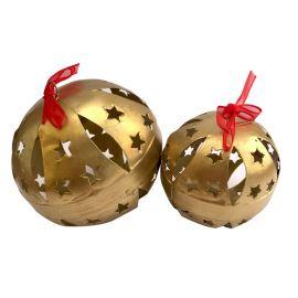 Set de 4 esferas grandes doradas o plateadas