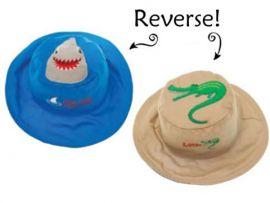 Gorro Reversible Tiburón-Cocodrilo