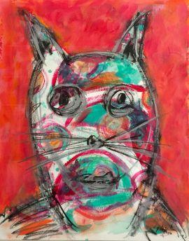 Cuadro El Gato Sicodelico