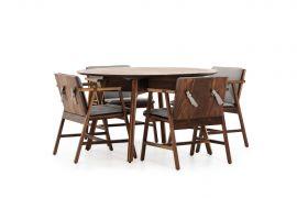 Mesa Comedor Redonda con sillas