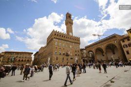 Entrada al Palazzo Vecchio en Florencia