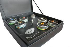 Caja Premium con 6 latas e infusor