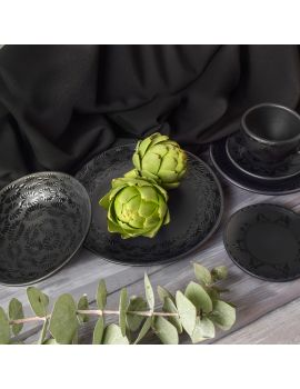 Vajilla Mila Black - Set Integral - 6 piezas