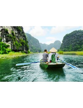 Paseo en lancha en Tam Coc